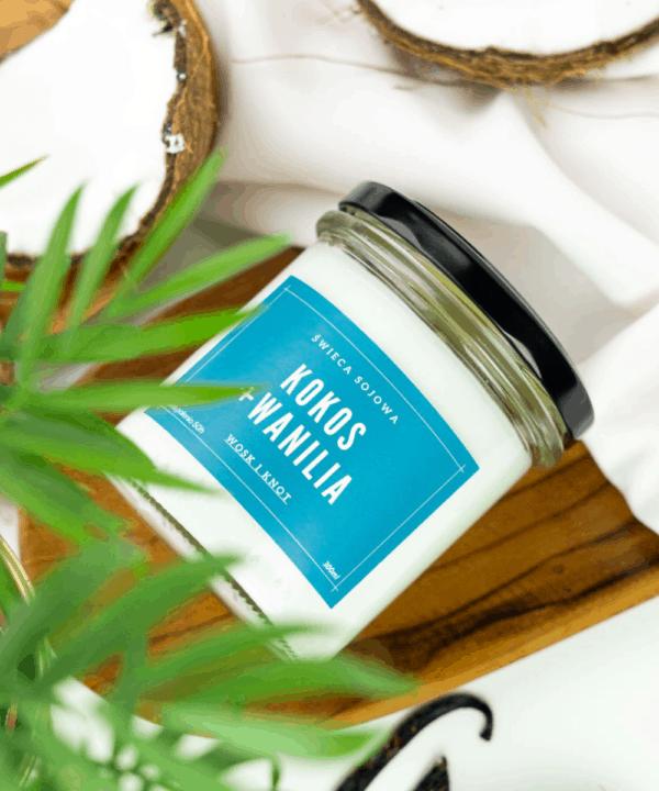 świeca zapachowa kokos wanilia