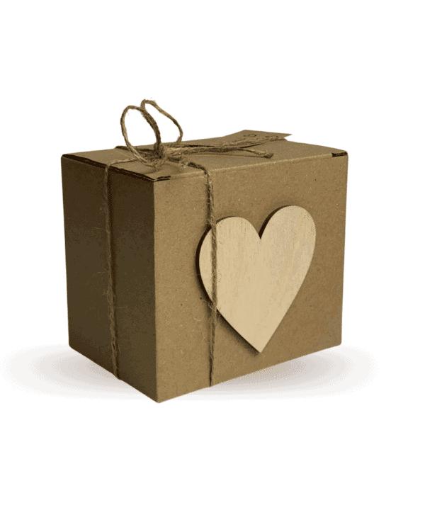 świeca na prezent zapakowana ekologicznie