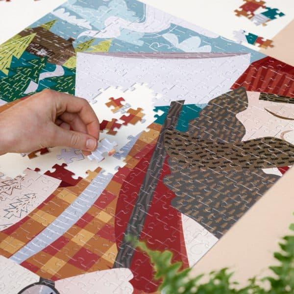 puzzle z grafik na ścianę