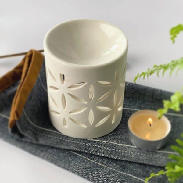 kominek ceramiczny w łezki do wosków zapachowych