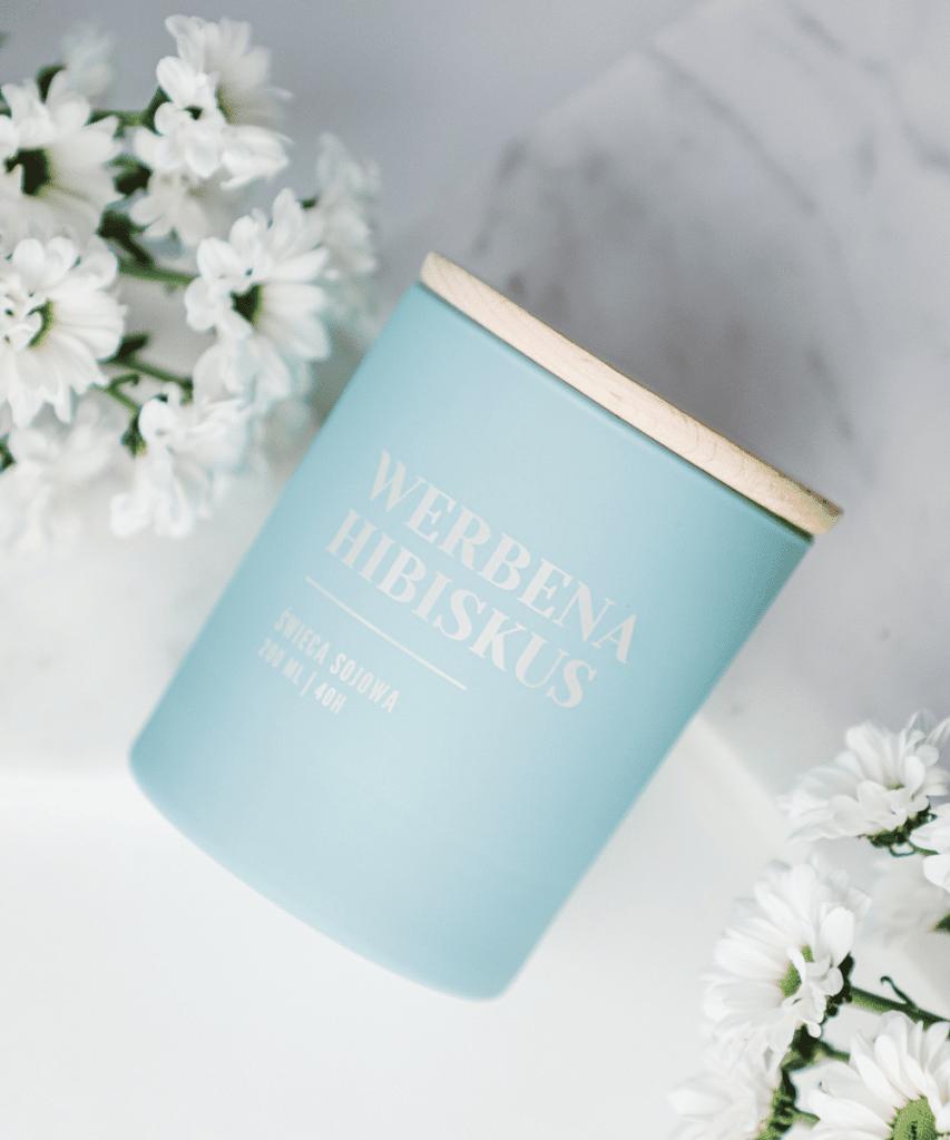 świeca sojowa werbena hibiskus herbaciany zapach