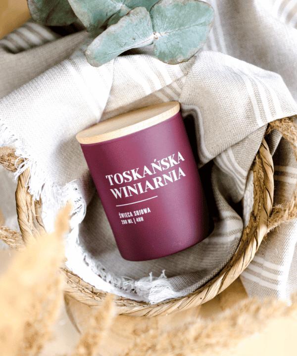 świeca sojowa toskańska winiarnia
